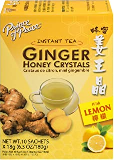 Prince of Peace Ginger & Lemon Honey Crystals (18g x 10) (Pack of 6)