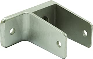 Sentry Supply 650-8786 1 Ear Wall Bracket, used on Panel size 1-1/4 inch, Satin Stainless Steel, Pack of 1