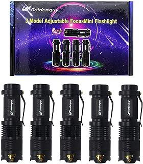 Noir batte de baseball DEL lampe de poche Q5 CREE étanche Sécurité Super Bright Torch