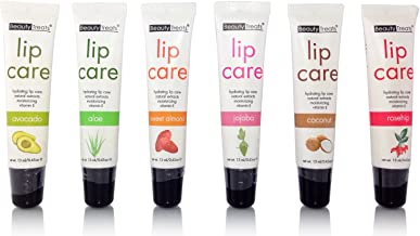 Beauty Treats Hydrating Lip Care with Natural Extracts and Moisturizing Vitamin E set of 6 Flavors
