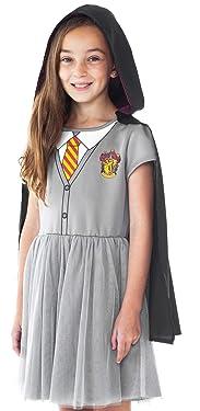 Harry Potter Girls Costume Dress Hermione Hogwarts Crest Hooded Cloak Gryffindor