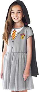 Girls Costume Dress Hermione Hogwarts Crest Hooded Cloak Gryffindor