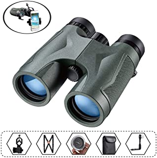 Binoculars for Adults Bird Watching, Ultra HD 10x42 Compact, FMC Fully Multi Coated Lenses, BAK4 Roof Prism with a Tripod ...