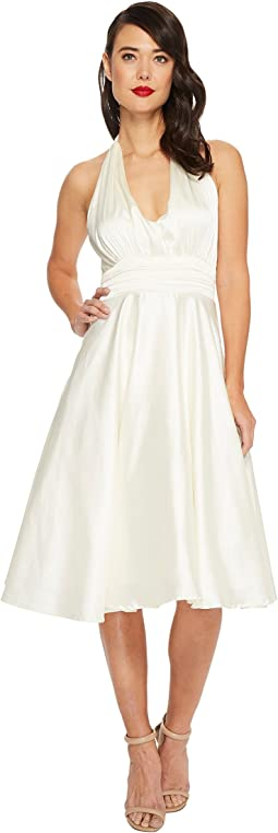 Satin Halter Hyannis Swing Dress