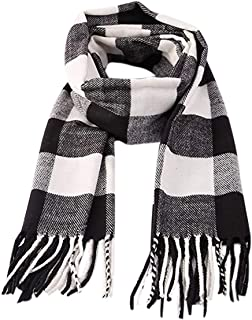 Kids Boys Girls Winter Plaid Scarf Warm Shawls Soft Warmer Neck Fringe Scarfs