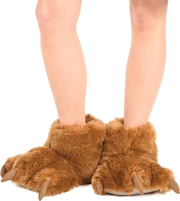 Lazy One Unisexe Wolf Paw Slipper Pantoufles Adulte