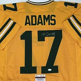 Signed Davante Adams Jersey - Yellow COA - JSA Certified - Autographed NFL Jerseys