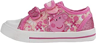 Girls Peppa Pig White/Pink Trainers UK Infant Sizes 4 to 10