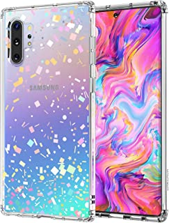 MOSNOVO Galaxy Note 10 Plus Case,Galaxy Note 10 Plus 5G Case, Colorful Confetti Slim Clear Case with Design Shockproof TPU Bumper Protective Cover Case for Samsung Galaxy Note 10 Plus