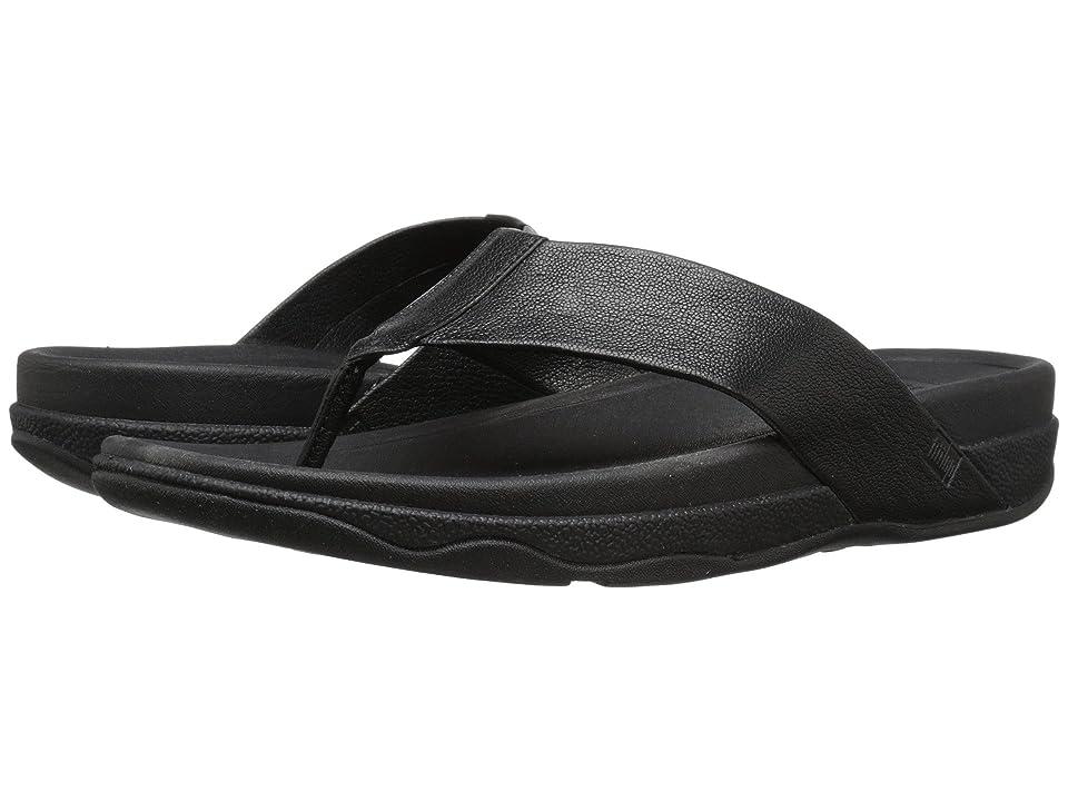 FitFlop Surfer Leather (Black) Men