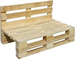 Sofa PALETS Lijado Y Cepillado - Medida 100cm X 60cm -Interior/Exterior Nuevo-Natural Sillon PALETS