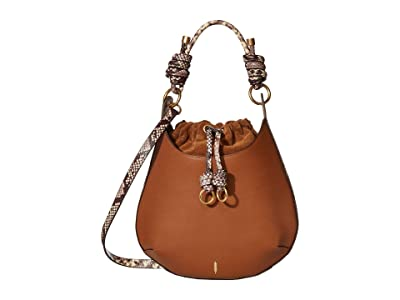 THACKER Bo Drawstring (Cognac/Python) Handbags