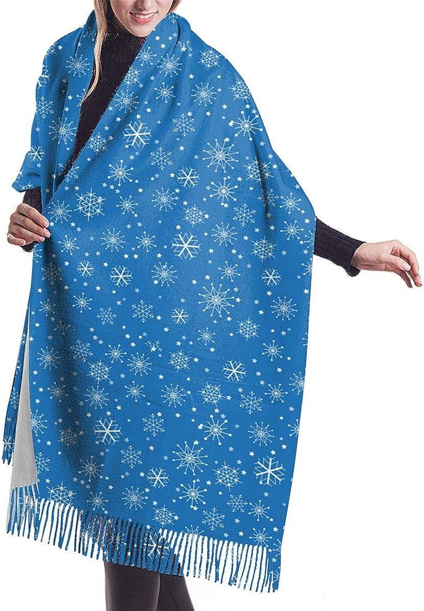 Christmas Snowflakes Pattern Winter Scarf Cashmere Scarves Stylish Shawl Wraps Blanket