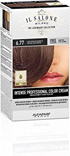 Il Salone Milano Professional Permanent Color Kit - 6.77 Light Chocolate Brunette - 100% Gray Coverage Hair Dye - Paraffin Free - Ethyl Alcohol Free - Moisturizing Oils