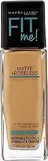 Maybelline New York Fit Me Matte Plus Poreless Foundation, Golden, 1 Fluid Ounce