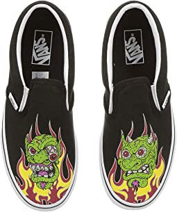f0c0b2419fbe2d (Demon Trolls) Black True White. 74. Vans Kids. Classic Slip-On (Little Kid Big  Kid).  32.70MSRP   37.00
