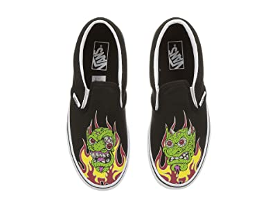 Vans Kids Classic Slip-On (Little Kid/Big Kid) ((Demon Trolls) Black/True White) Boys Shoes