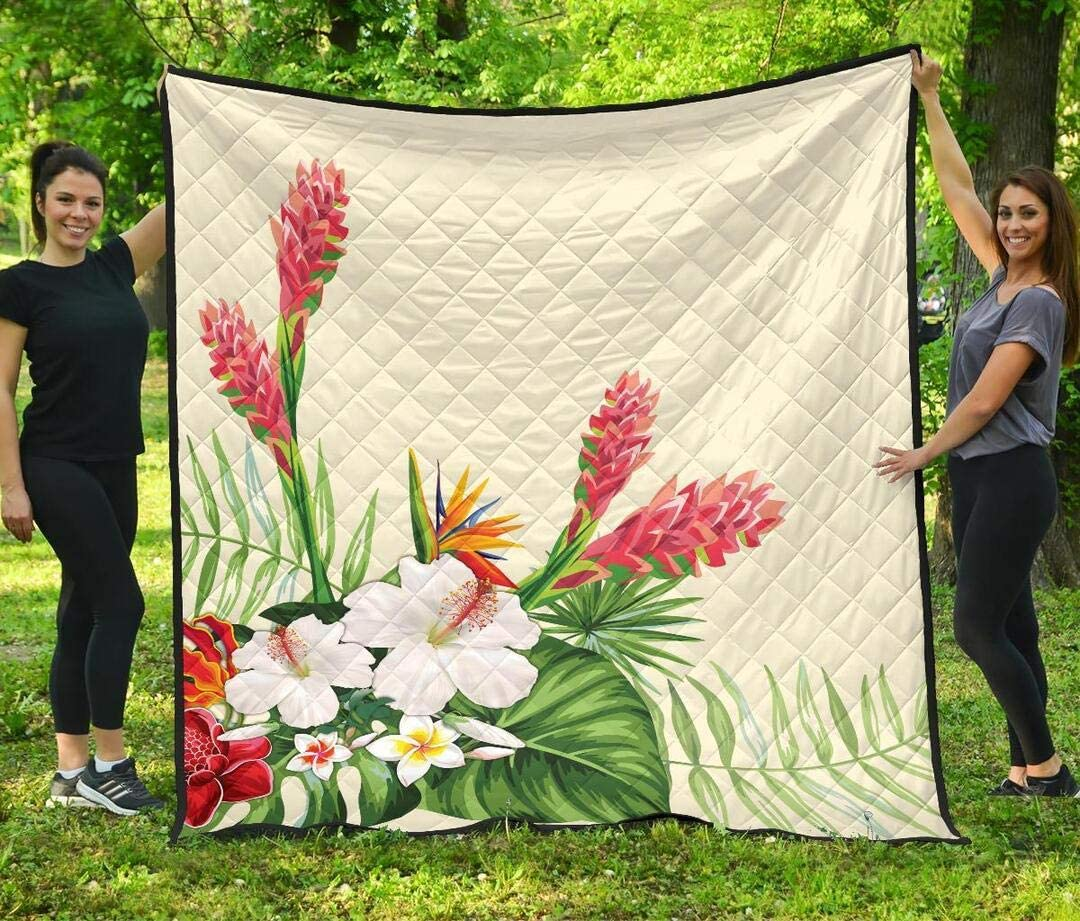 Nakami Personalized Japan Maker New Ranking TOP16 Wonderful Hibiscus Flower Valentine's Quilt