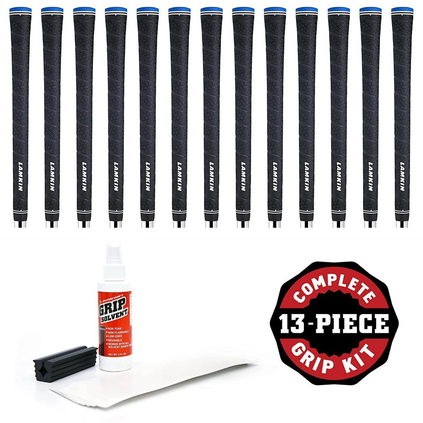 ひねりずらす完了Lamkin UTxラップ0.580グリップキットwithテープ、溶剤、バイスクランプ( 13-piece、ブラック、中堅企業
