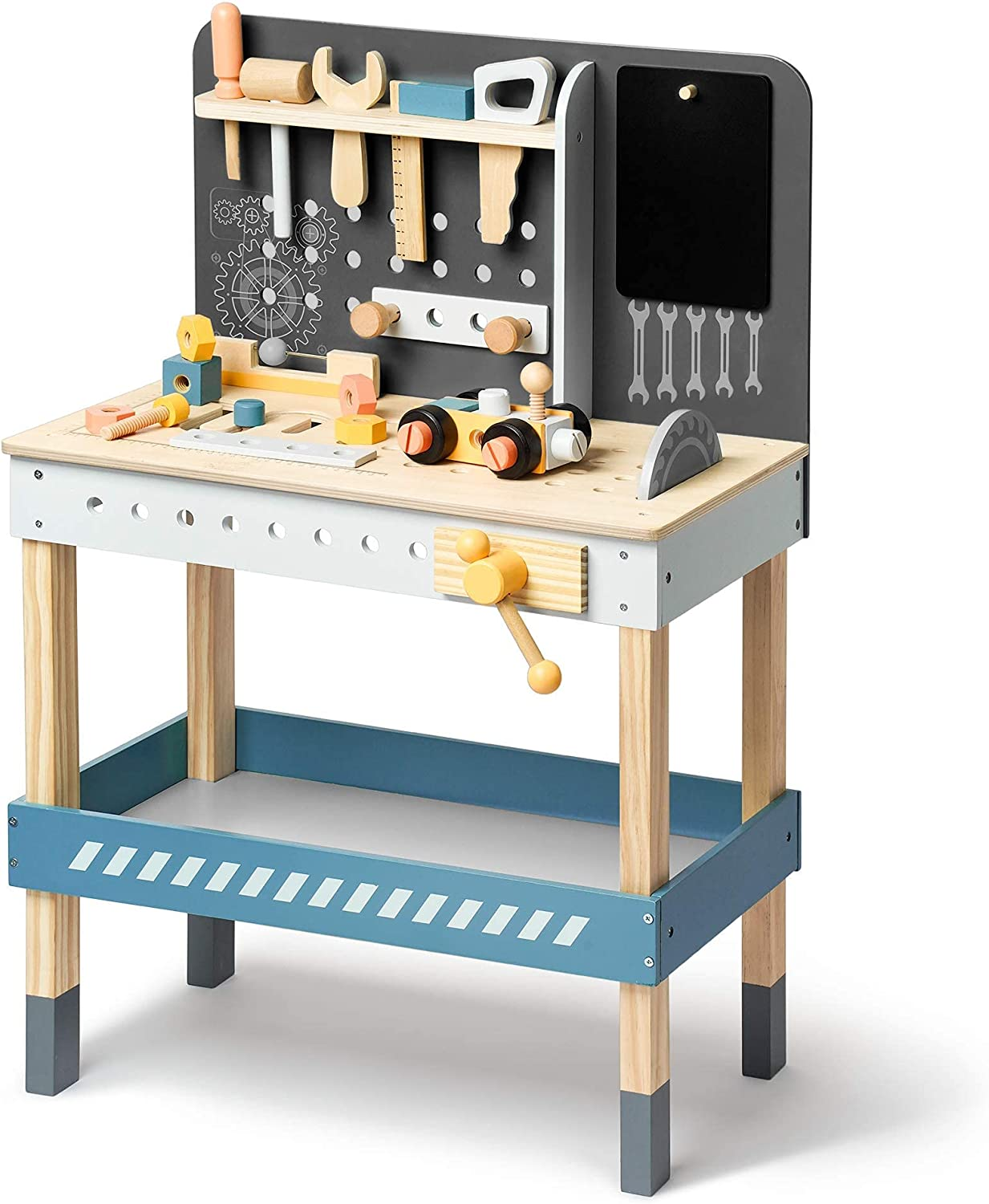 ROBUD Tool Bench Set for Max 73% OFF Workbench Toddlers Workshop Toy Wooden Max 62% OFF
