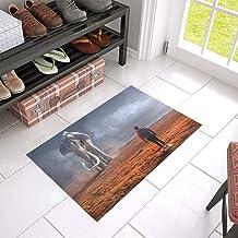 Fantasy Landscape Elephant Man Sun Light Unique Debora Custom Bathroom Accessories Non-Slip Bath Mat Rug Bath Doormat Floo...