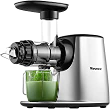 Juicer Machine, Willsence Slow Masticating Juice Extractor with 5 Mode Adjustment, Cold Press Juicer with Reverse Function, Anti-Drip, Quiet Motor, Recipes for Vegetables and Fruits, BPA-Free