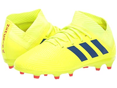 adidas Kids Nemeziz 18.3 FG Soccer (Little Kid/Big Kid) (Solar Yellow/Blue/Active Red) Kids Shoes