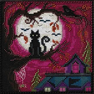 Moonstruck Beaded Counted Halloween Cross Stitch Kit Mill Hill MH141626 Buttons & Beads 2016 Autumn