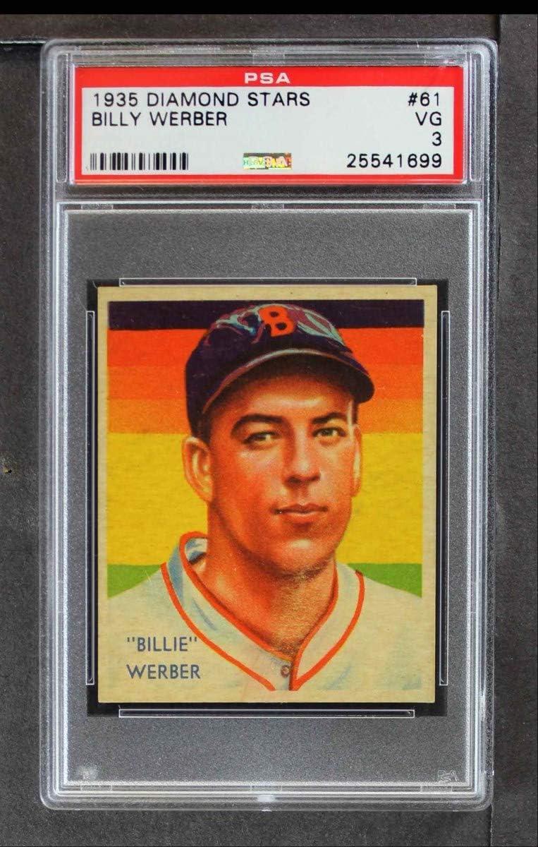 1935 Diamond Stars # 61 Bill Red Sox Brand Cheap Sale Venue Baseball Werber Boston Car Today's only