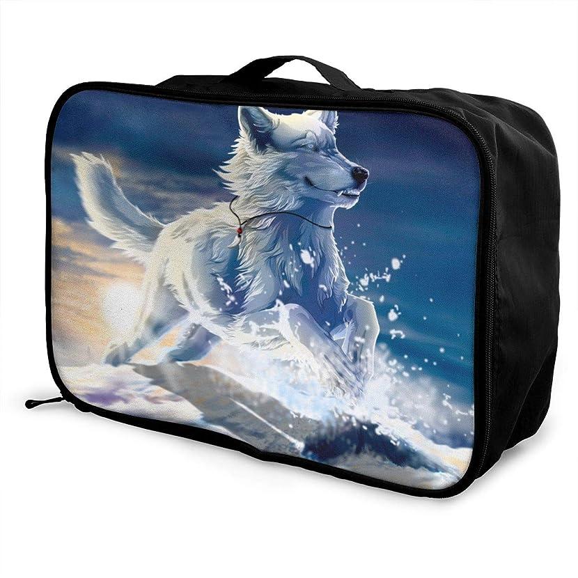 Travel Luggage Duffle Bag Lightweight Portable Handbag Snow Fox Print Large Capacity Waterproof Foldable Storage Tote