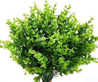 12 pcs Artificial Flowers UV Resistant Outdoor Fake Plants and Greenery Springs Artificial Boxwood for Bridal Party Weddin...