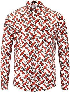 Camisa/Camisetas/Casual/Primavera y otoño Estilista del Cabello Camisa de Flores Camisa de Manga Larga Camisa Suelta Informal