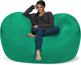 Chill Sack Bean Bag Chair: Huge 6' Memory Foam Furniture Bag and Large Lounger - Big Sofa with Soft Micro Fiber Cover - Tide Pool