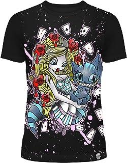 2ee7c639284f1 T-shirt Cupcake Cult Alice au pays des merveilles Cartes à jouer Punk Goth