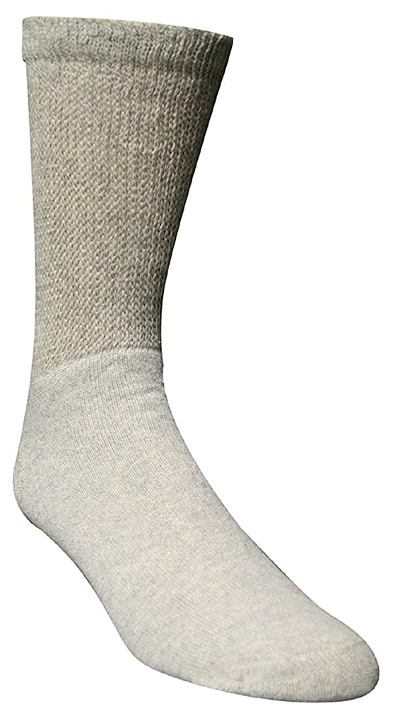 Super Soft Extra Wide Socks size 12-16 Grey, Non-Binding and Seamless Toe for Sensitive Tired and Achy feet
