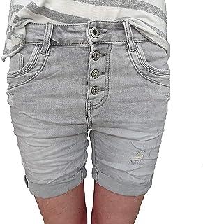d57529620d0b6 LEXXURY denim CARDAGE boyfriend baggy Stretch Shorts Bermuda boutons rangée  ouverte de boutons (AUTRE COULEURS