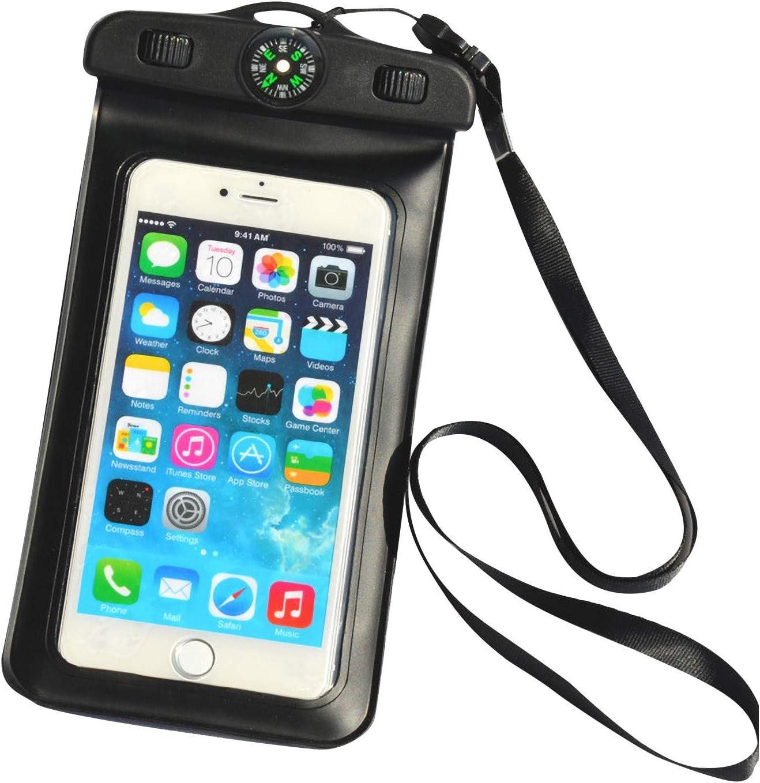 Universal Waterproof Phone Pouch, Universal Waterproof Case Underwater Cell Phone Dry Bag Waterproof Phone Pouch Dry Bag for Camping Fishing Beach Swimming Travel (Black)