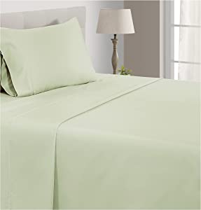 CHATEAU HOME COLLECTION 800-Thread-Count Egyptian Cotton Deep Pocket Sateen Weave Sheet Set (Twin, Sea Foam)