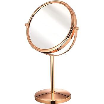 x1//x5 Basics Miroir grossissant sur pied /à plateau en bambou carr/é