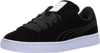 PUMA Womens 36411401 Basket Classic Velour Velvet Rope Black Size: