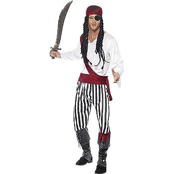 SmiffyS 25783L Disfraz De Hombre Pirata Con Camisa, Pantalones ...