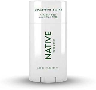 Native Deodorant - Natural Deodorant for Women and Men - Vegan, Gluten Free, Cruelty Free - Aluminum Free, Free of Parabens and Sulfates - Eucalyptus & Mint
