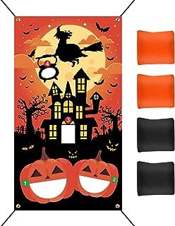 TUPARKA Halloween Cornhole Game Supplies Halloween Bean Bag Toss Games Set with 4 Bean Bags 19.7 ft Rope Halloween Party Games Supplies for Children Family Game Party Favor