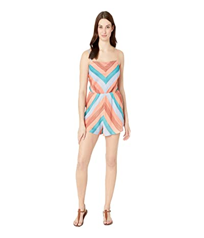 Lucky Brand Block Party Romper Cover-Up (Multi) Women