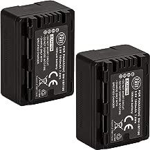 BM Premium 2-Pack of VW-VBT190 Batteries for Panasonic HC-V800K, HC-VX1K, HC-WXF1K, HCV510, HCV520, HC-V550, HCV710, HC-V720, HC-V750, HC-V770, HC-VX870, HC-VX981, HCW580, HC-W850, HC-WXF991 Camcorder
