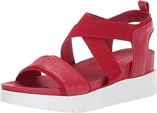 Taryn Rose Women's Stephanie Wedge Sandal, Sangria, 5 M M US