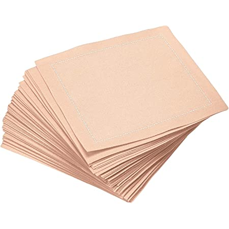 Amazon Com Signature Napkins 100 Cotton Cocktail Napkin 50 Pack 4 5 X 4 5 Nude Cocktail Napkins
