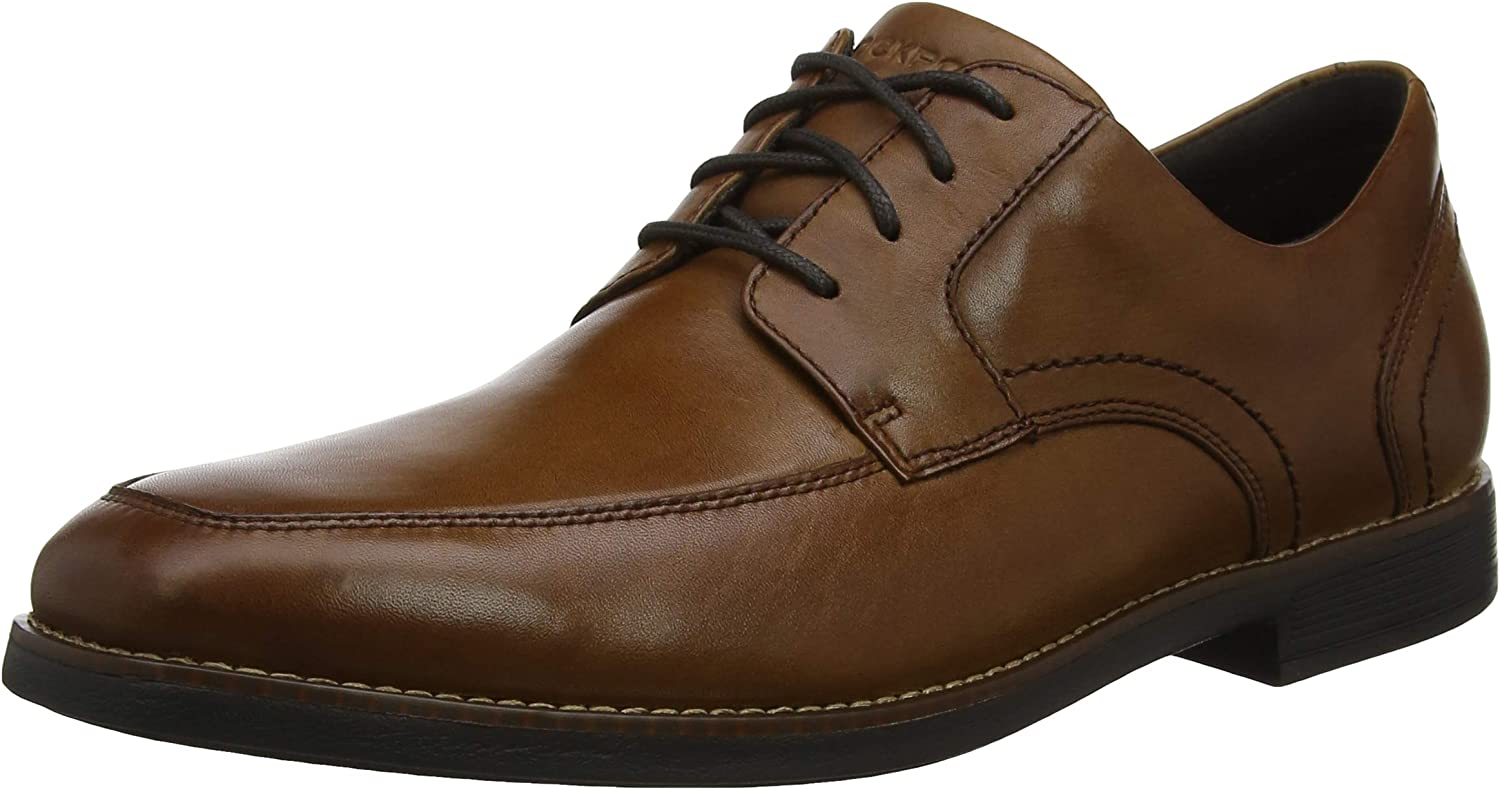 Rockport Men's Slayter Apron Toe Cognac Derbys