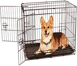 Carlson Secure and Compact Double Door Metal Dog Crate, Medium