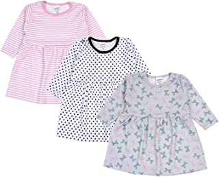 TupTam Baby Mädchen Kleid Langarm Tunika 3er Pack